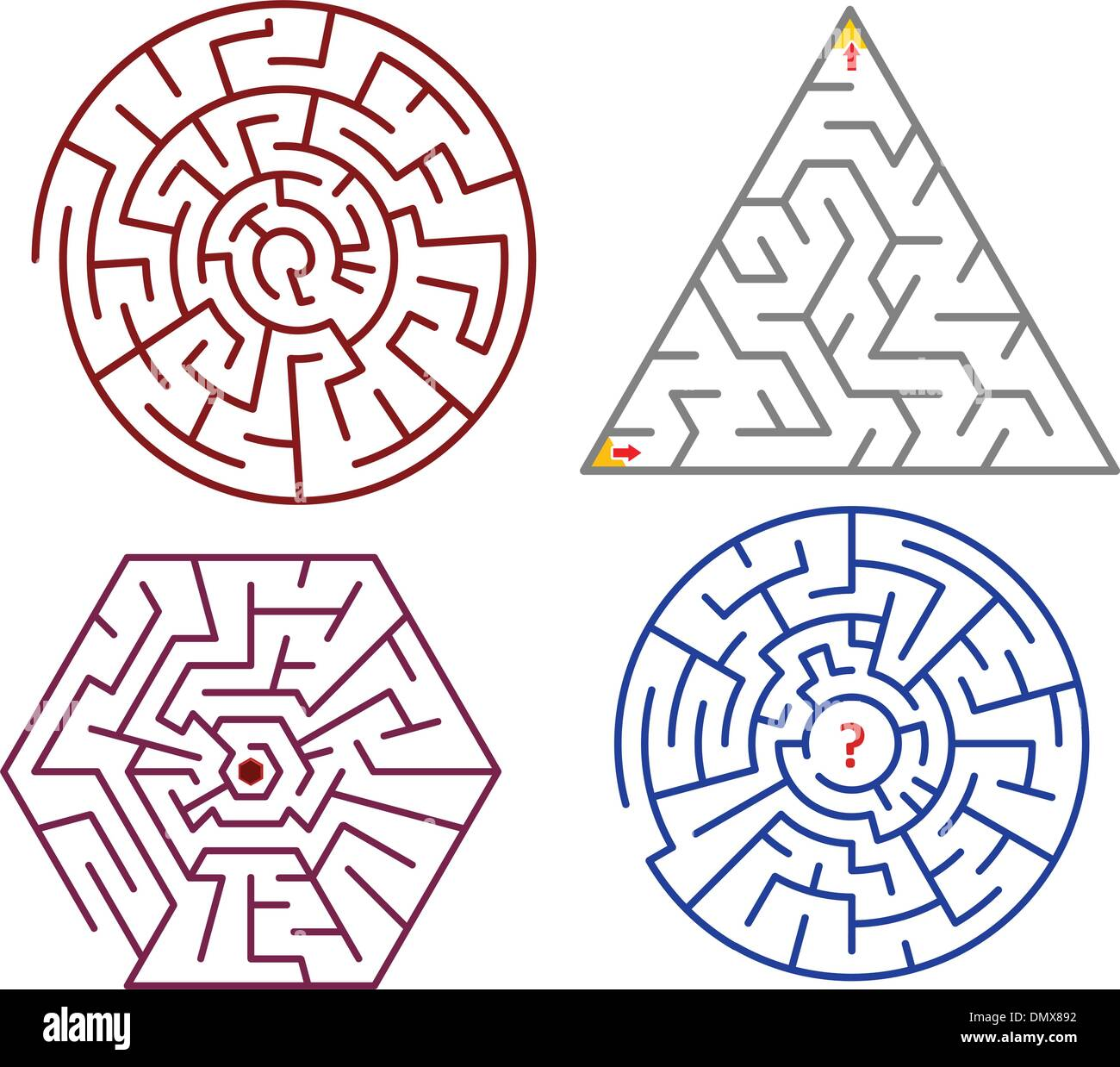 Mazes collections - Stock Image