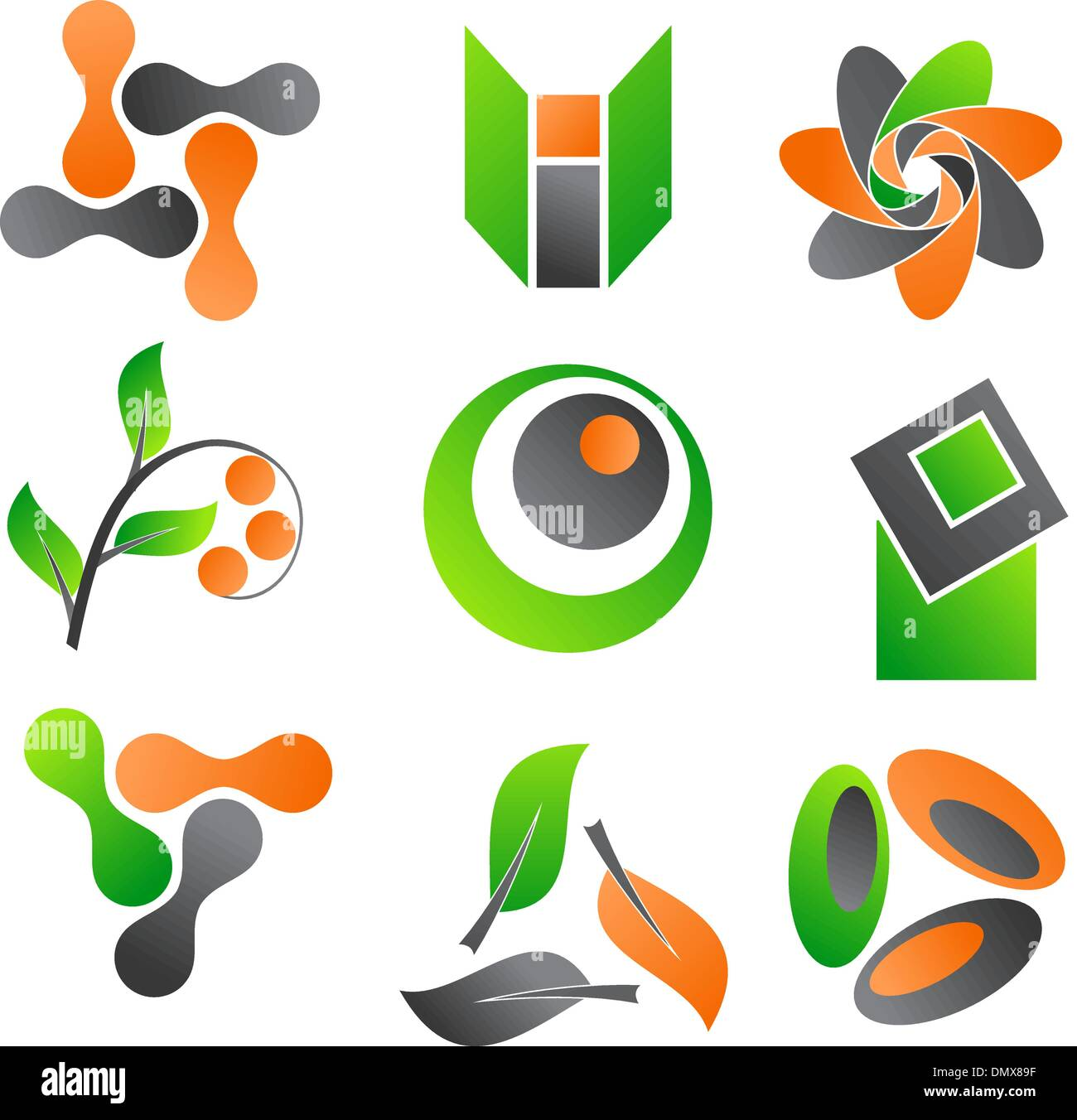 Abstract icons - Stock Image