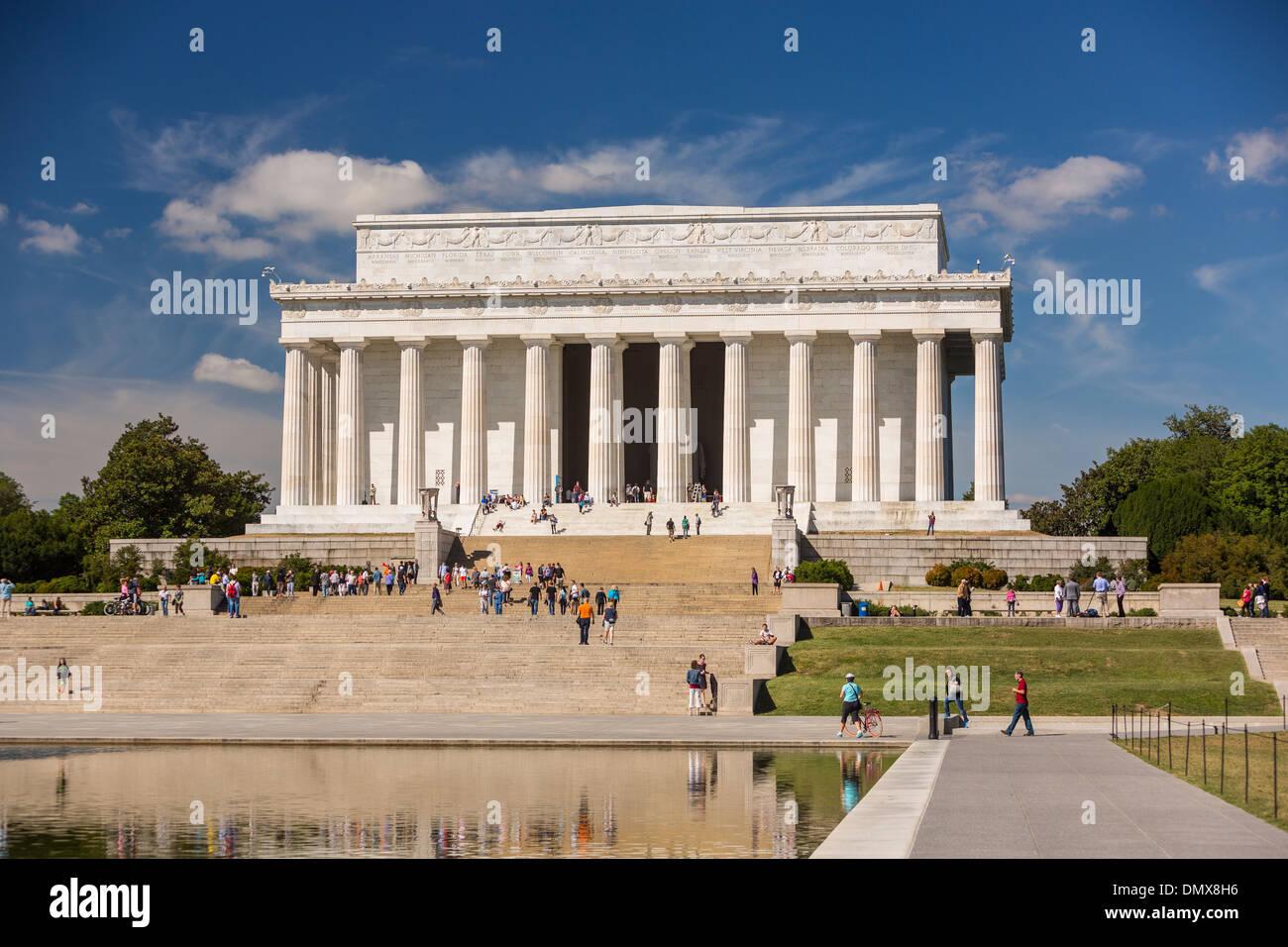 WASHINGTON, DC, USA - Lincoln Memorial. Stock Photo