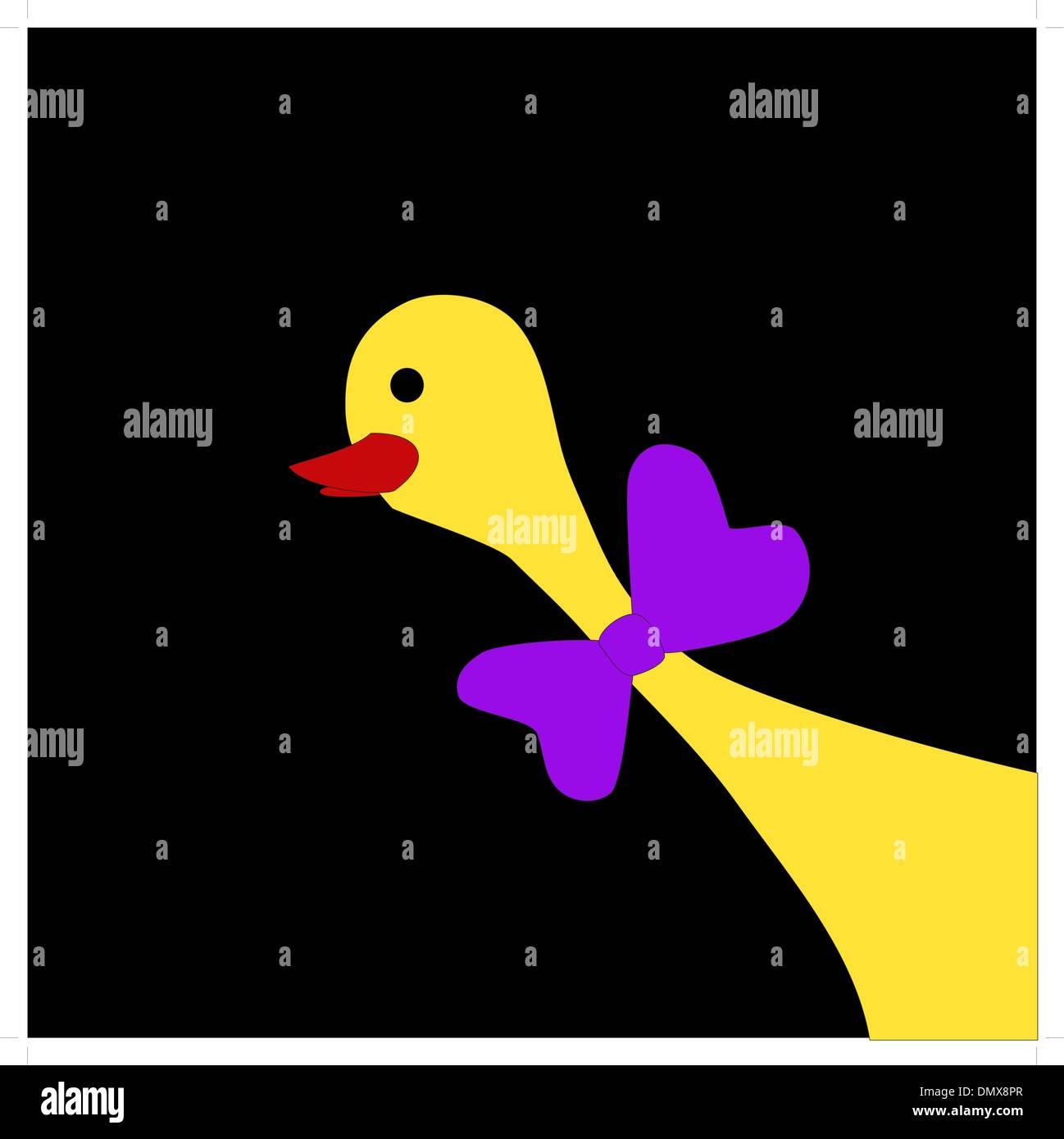 Yellow duck - Stock Vector