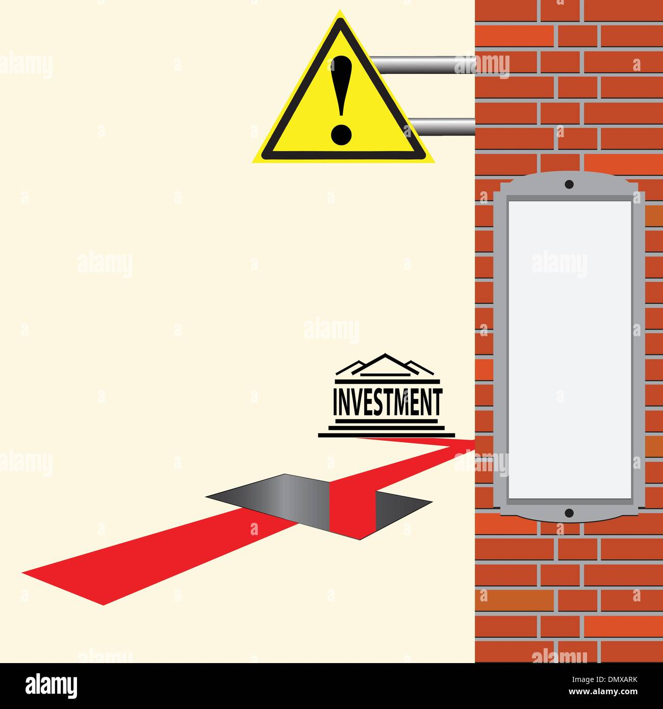 Investment issues - Stock Vector