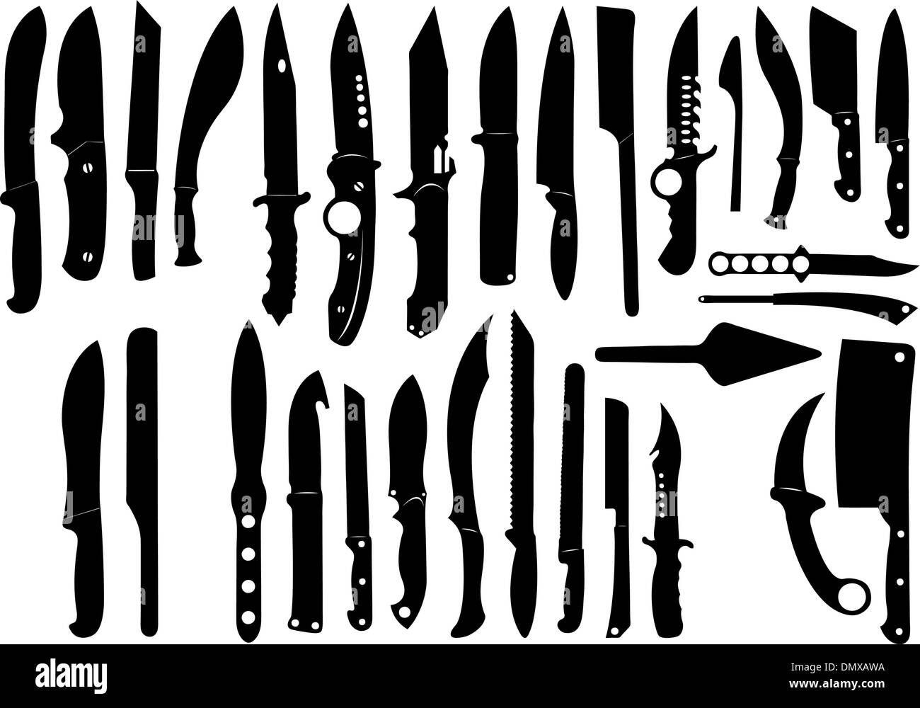 Knifes set - Stock Image