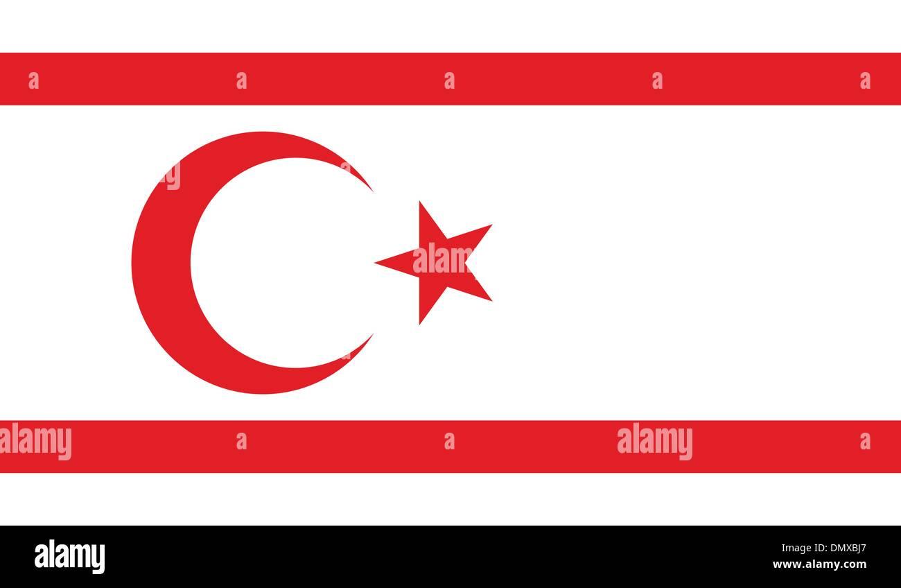 Turkish Republic of Northern Cyprus Flag - Stock Image