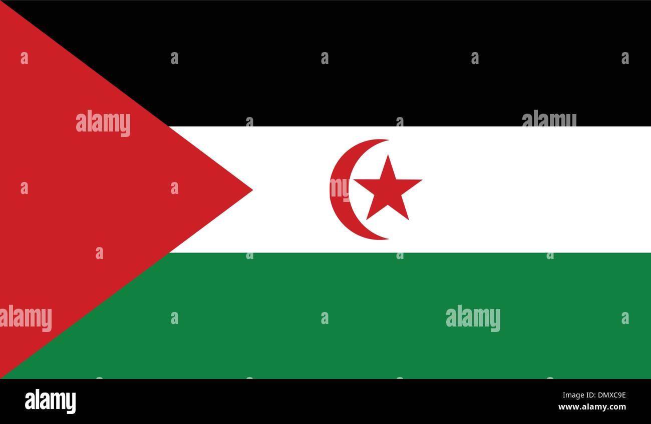 Western Sahara (Sahrawi Arab Democratic Republic) Flag - Stock Image