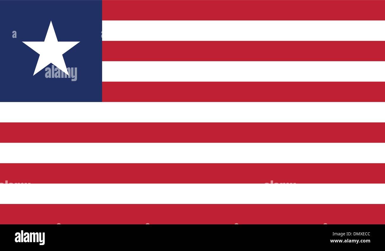 Liberia Flag - Stock Image