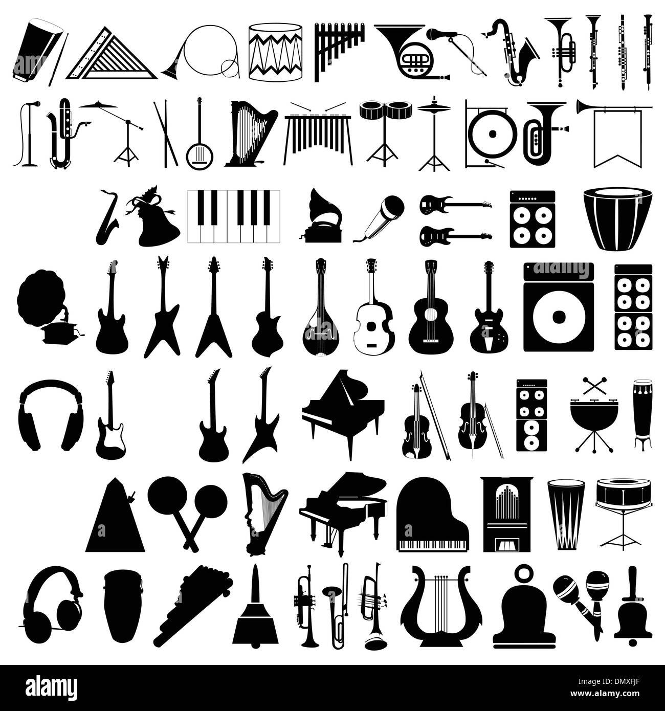 Musical instruments2 - Stock Image