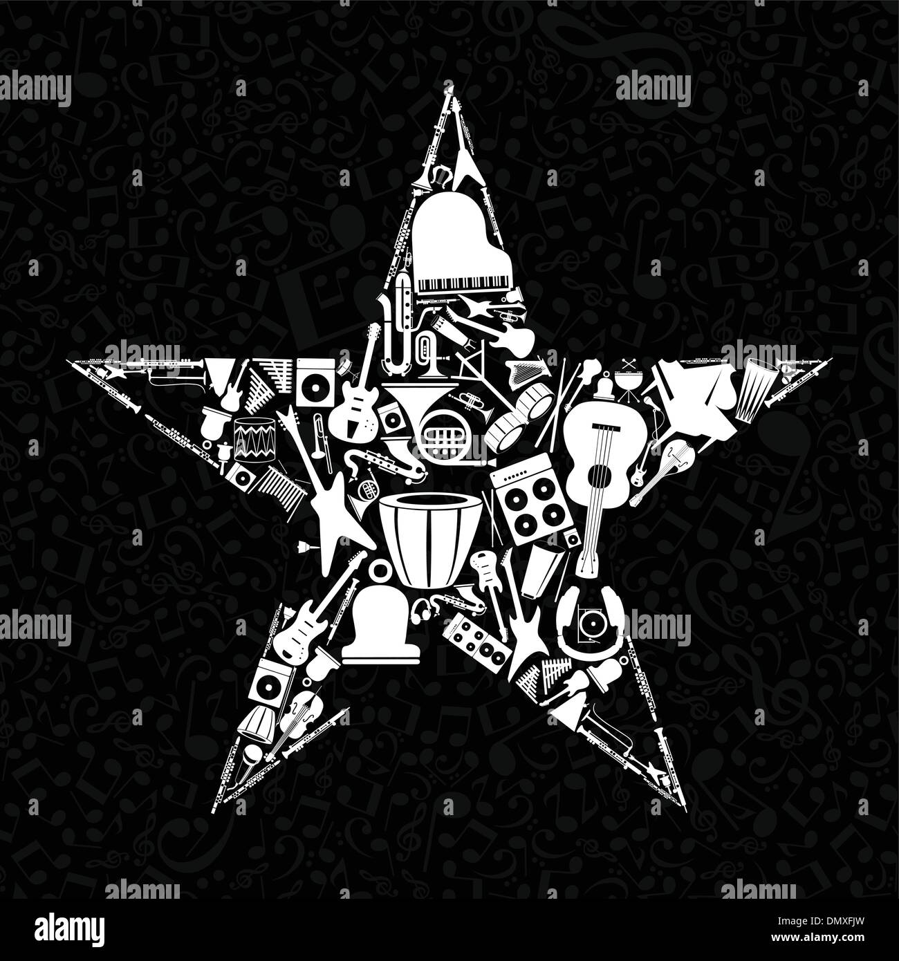 Musical star3 - Stock Image