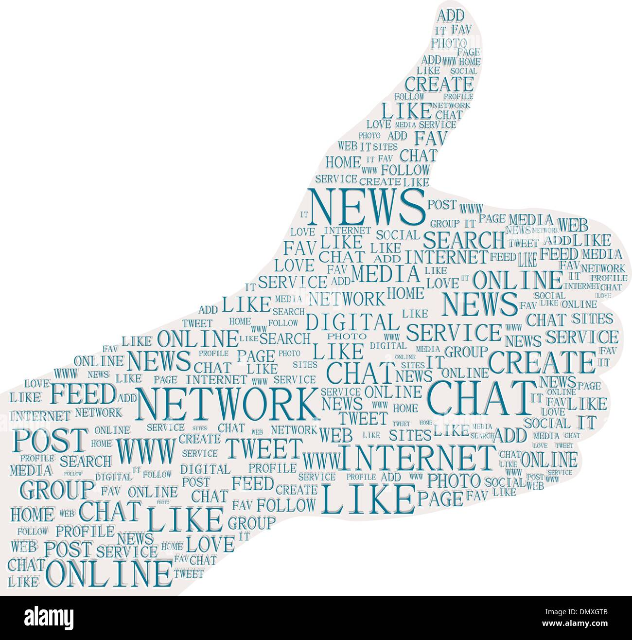 Social Media Networking Style Like Dislike Thumbs up down Rubber Stamps