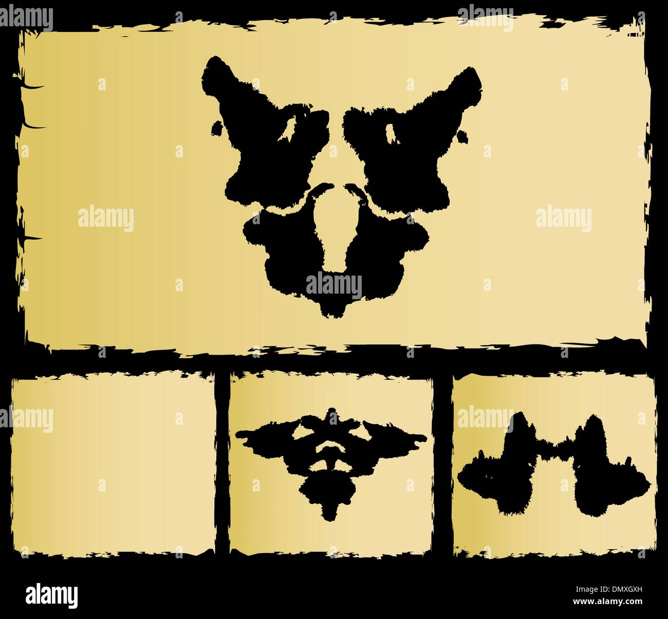 the test rorschach set image - Stock Image