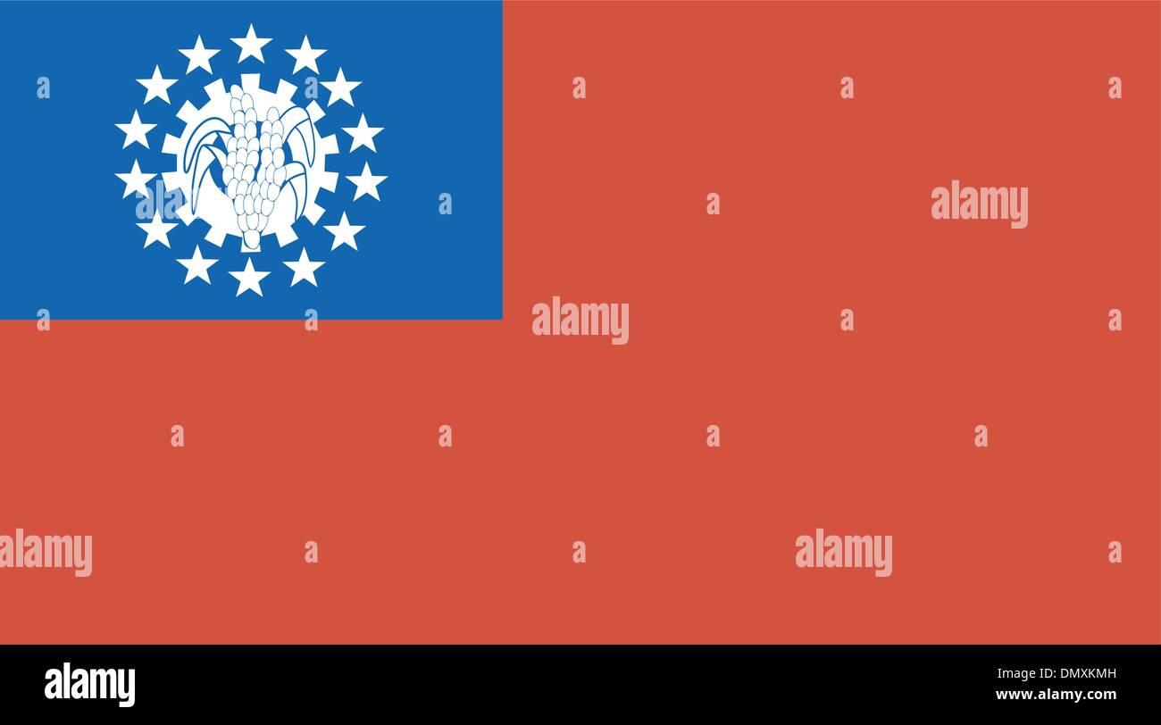 Vector illustration of the flag of Myanmar - Stock Vector
