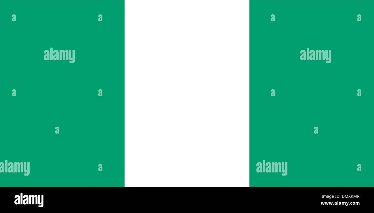 Vector illustration of the flag of  Nigeria - Stock Vector