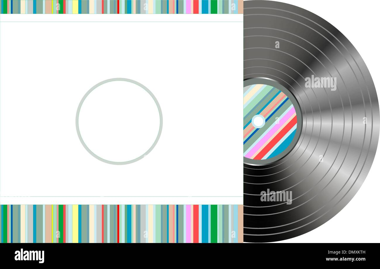 retro-styled vinyl with modern cover - Stock Image