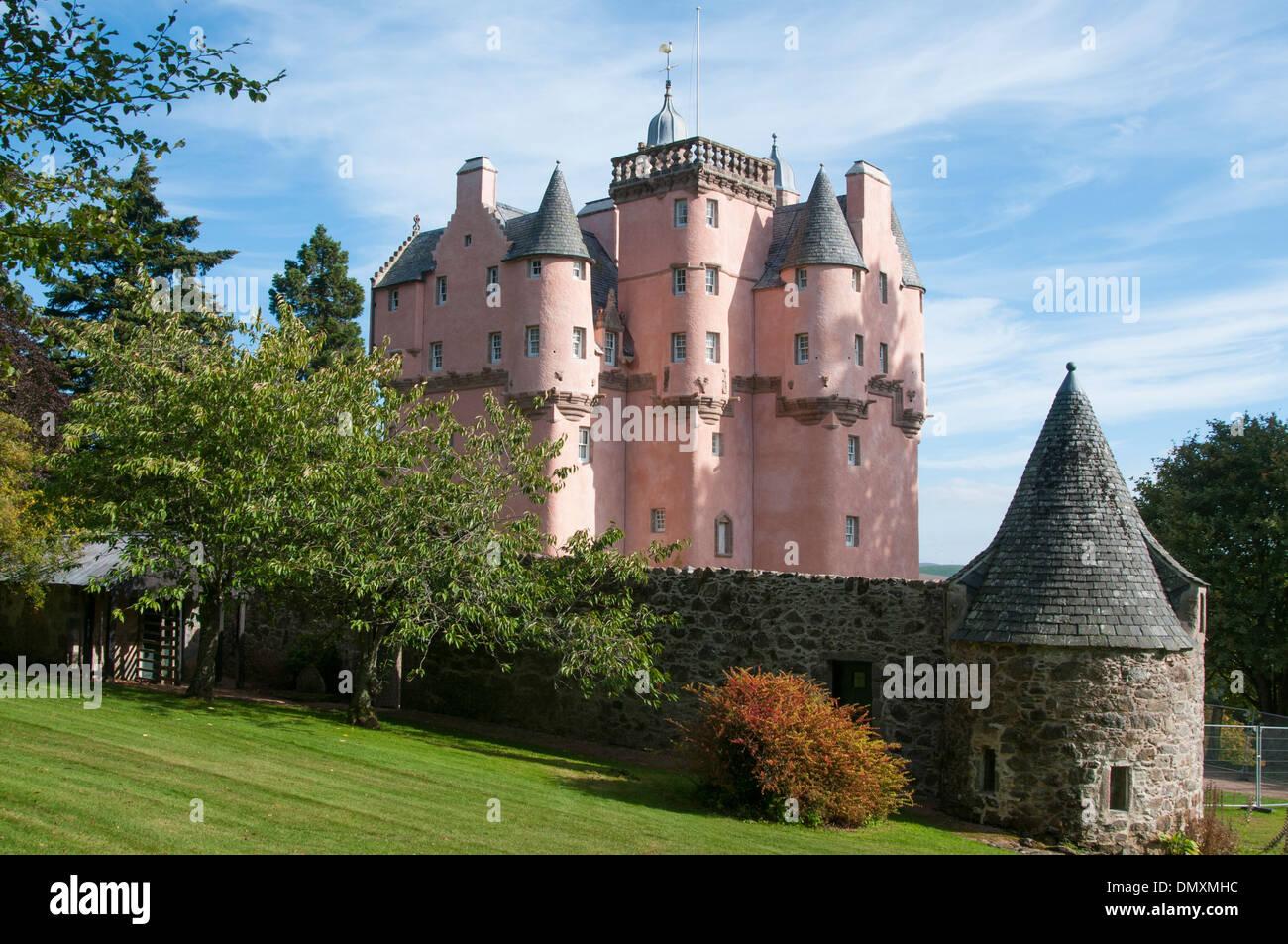 craigievar castle royal deeside scottish castle - Stock Image