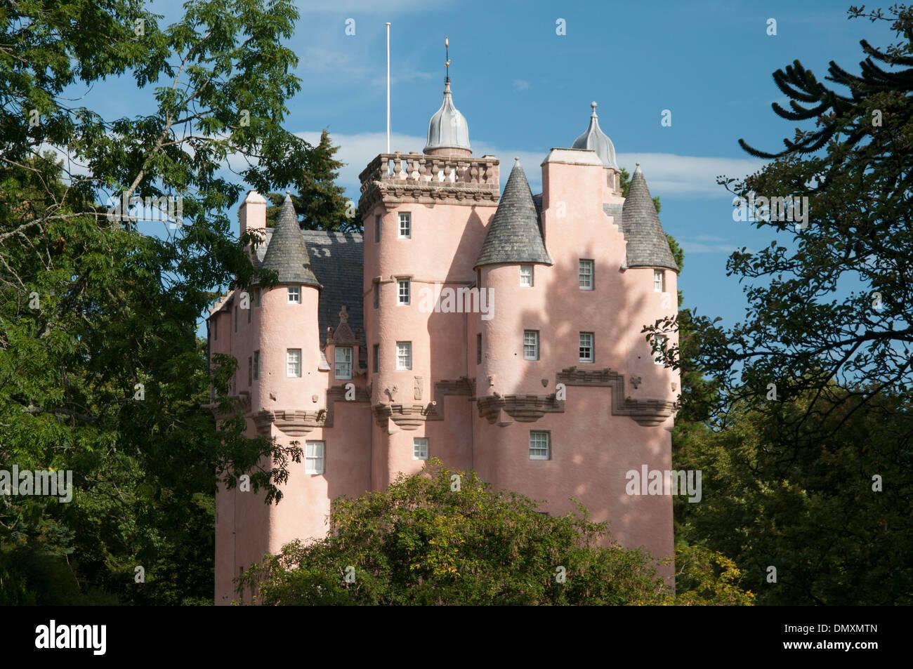 craigievar castle royal deeside a scottish castle - Stock Image