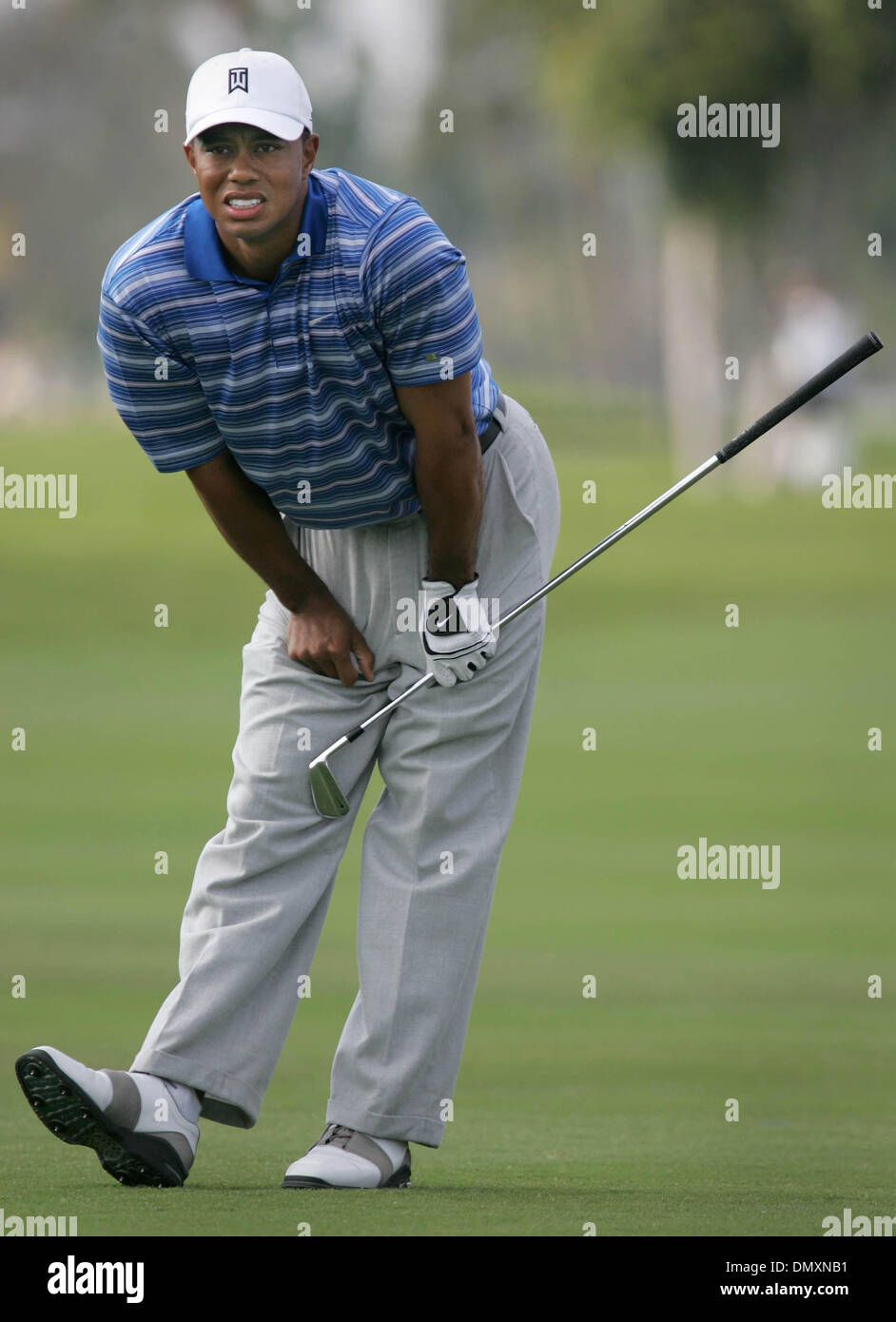 Mar 04, 2006; Miami, FL, USA; Tiger Woods watches his second shot on the par 5, 8th hole.  Mandatory Credit: Photo Stock Photo