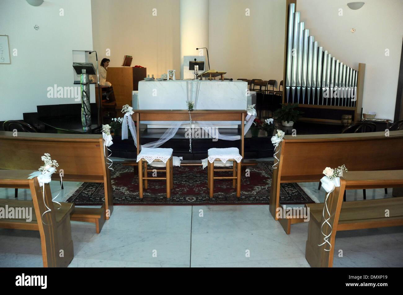 Italian Wedding Floral Decorations Church And Restaurant