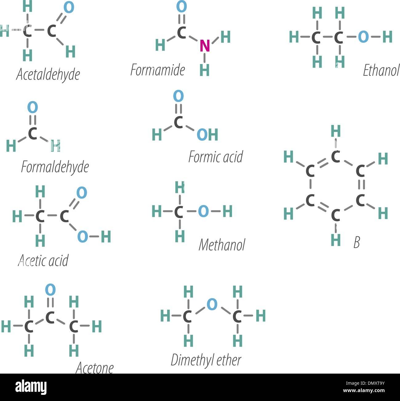 Chemistri formulas - Stock Image