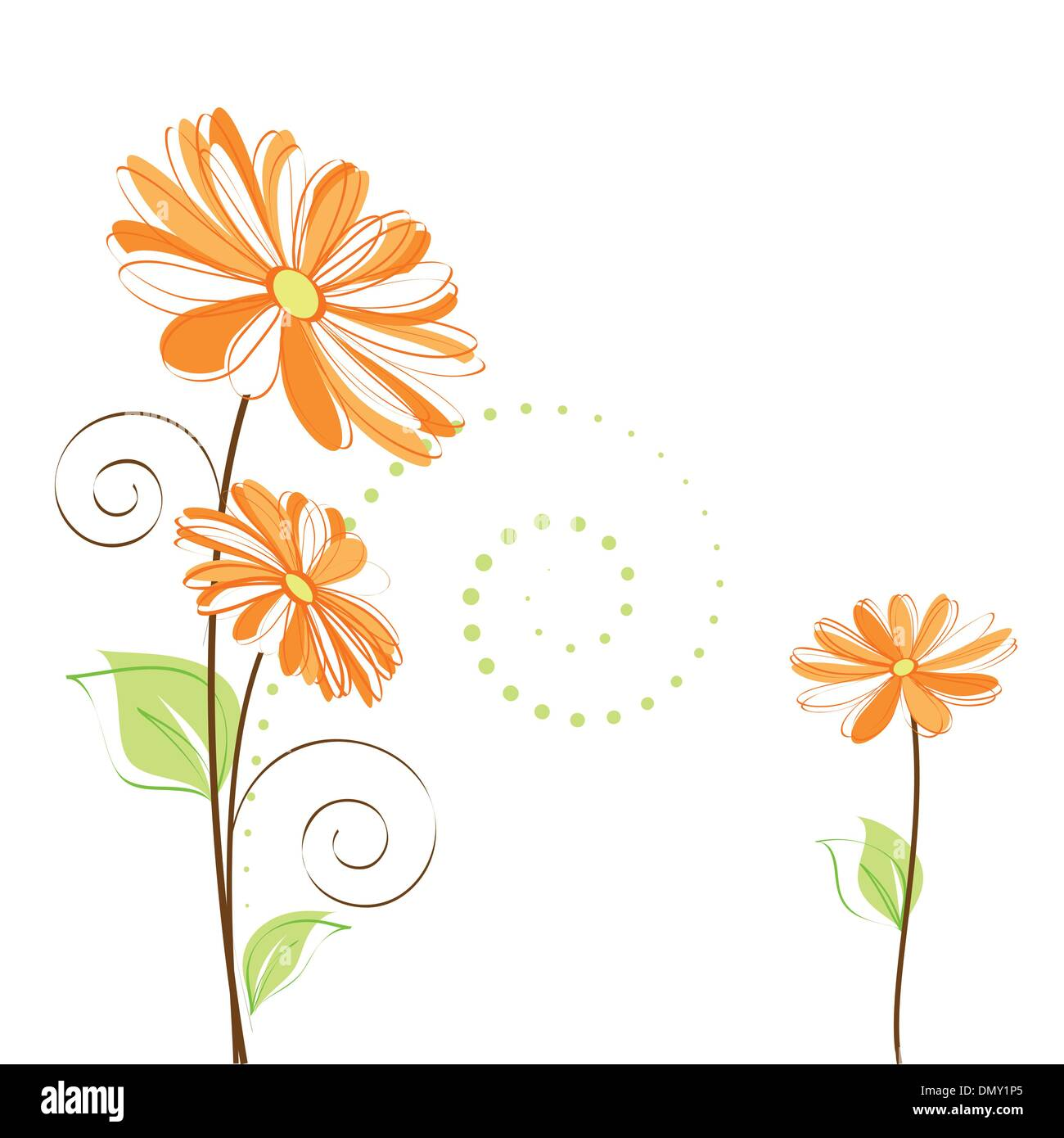 Daisy Shape Stock Vector Images Alamy