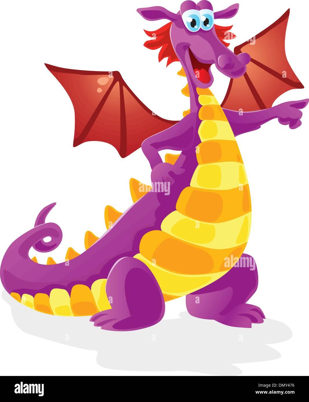 dragon cartoon character Stock Vector