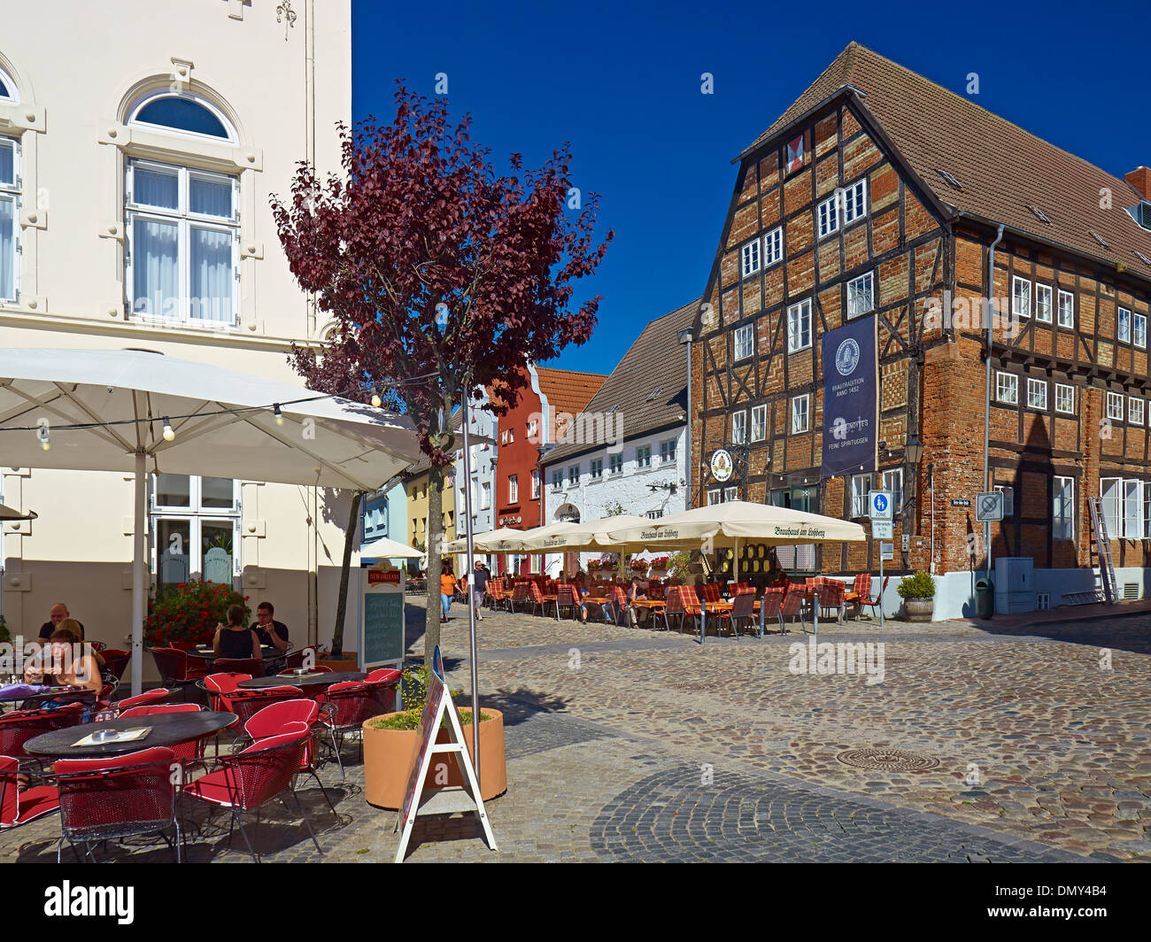 Brauhaus at the Lohberg, Old Harbour, Hanseatic city of Wismar, Mecklenburg-Vorpommern, Germany - Stock Image