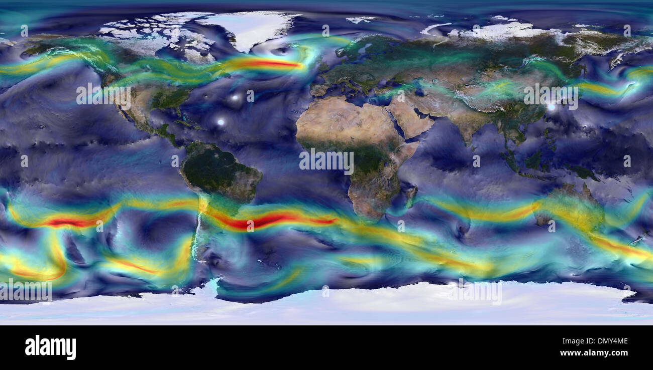 Jet Stream Map Stock Photos & Jet Stream Map Stock Images - Alamy