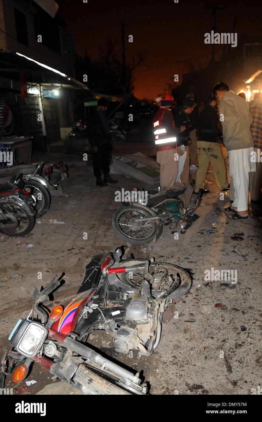 Rawalpindi, Islamabad  17th Dec, 2013  Damaged motorcycles