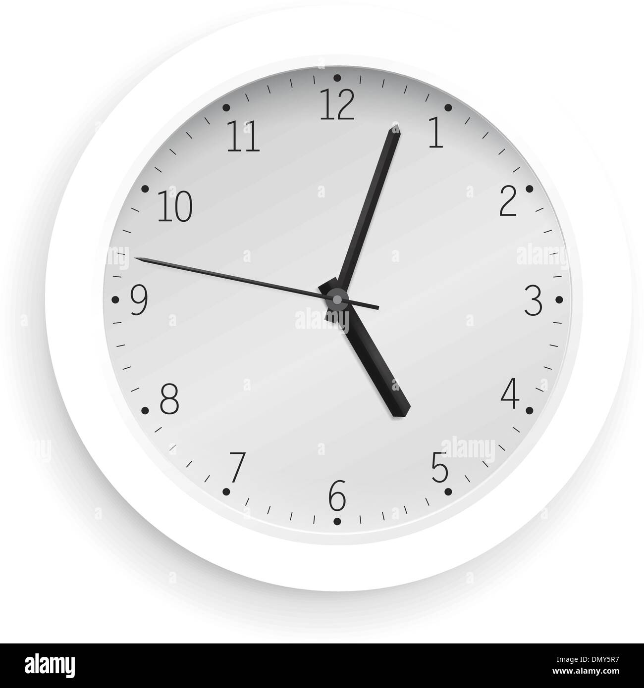 White clock - Stock Image