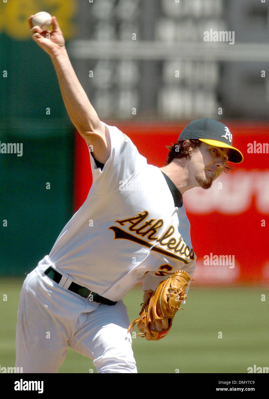 Jul 26, 2006; Oakland, CA, USA; The Oakland Athletics' DAN HAREN pitched a strong game against the Boston Red Sox. The A's defeated the Red Sox 5-1 at McAfee Coliseum in Oakland, California, on Wednesday, July 26, 2006. Mandatory Credit: Photo by Dan Honda/Contra Costa Times/ZUMA Press. (©) Copyright 2006 by Contra Costa Times Stock Photo