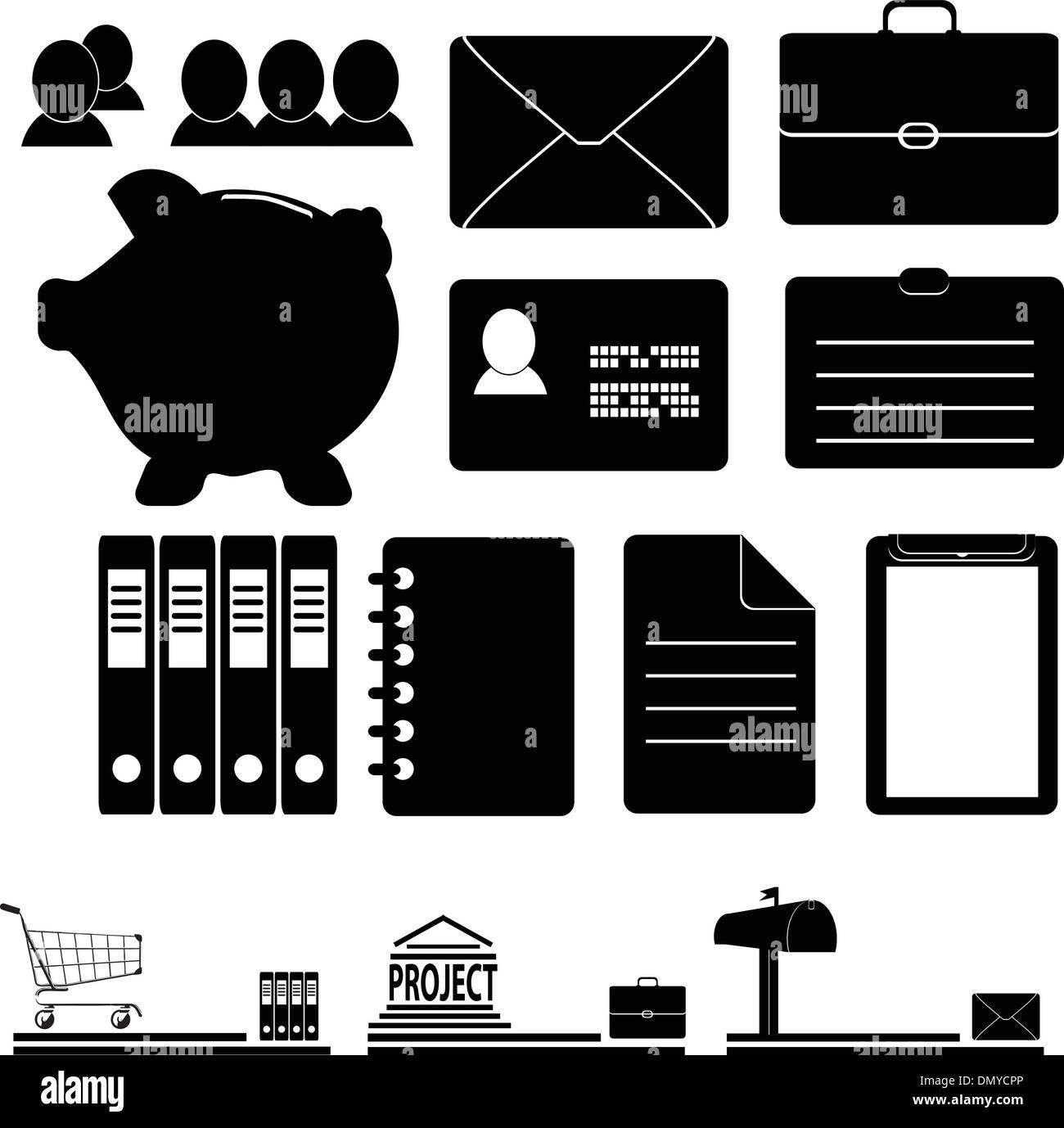 A set of business icons - Stock Vector