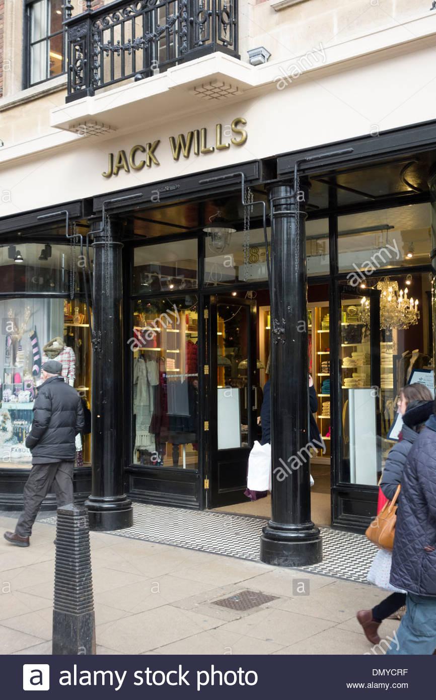 Jack Wills store in Cambridge - Stock Image