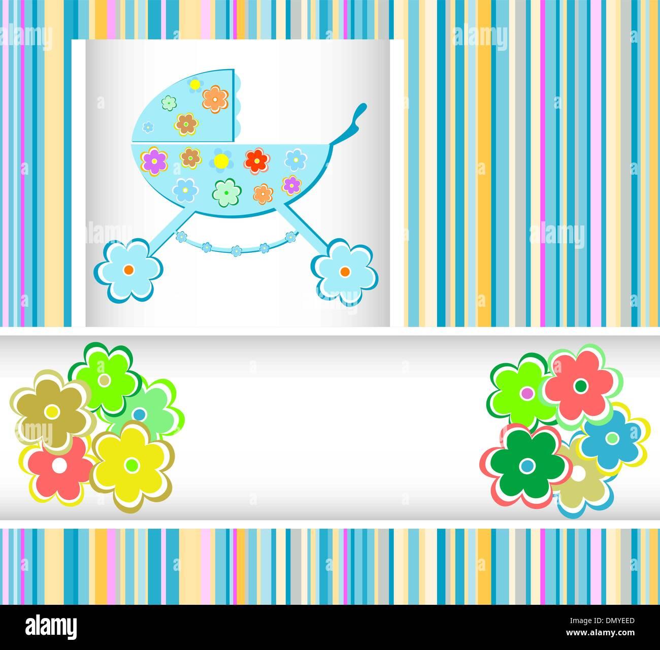 2f808cc92 Baby boy arrival announcement card Stock Vector Art   Illustration ...