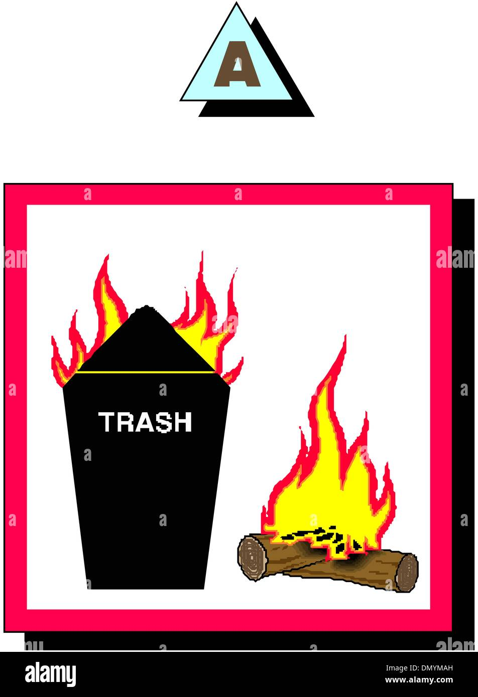 recycle trash can - Stock Image