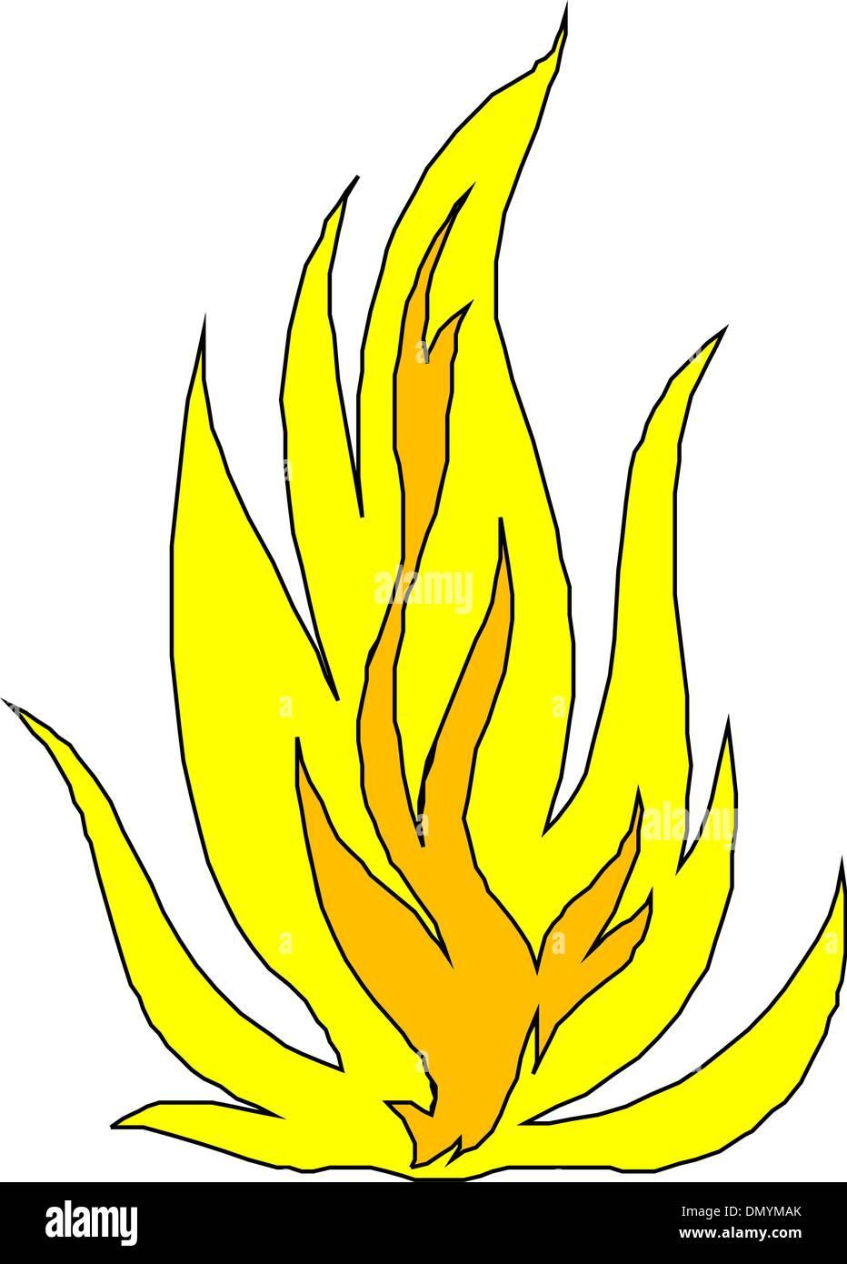 Vector fire - Stock Vector