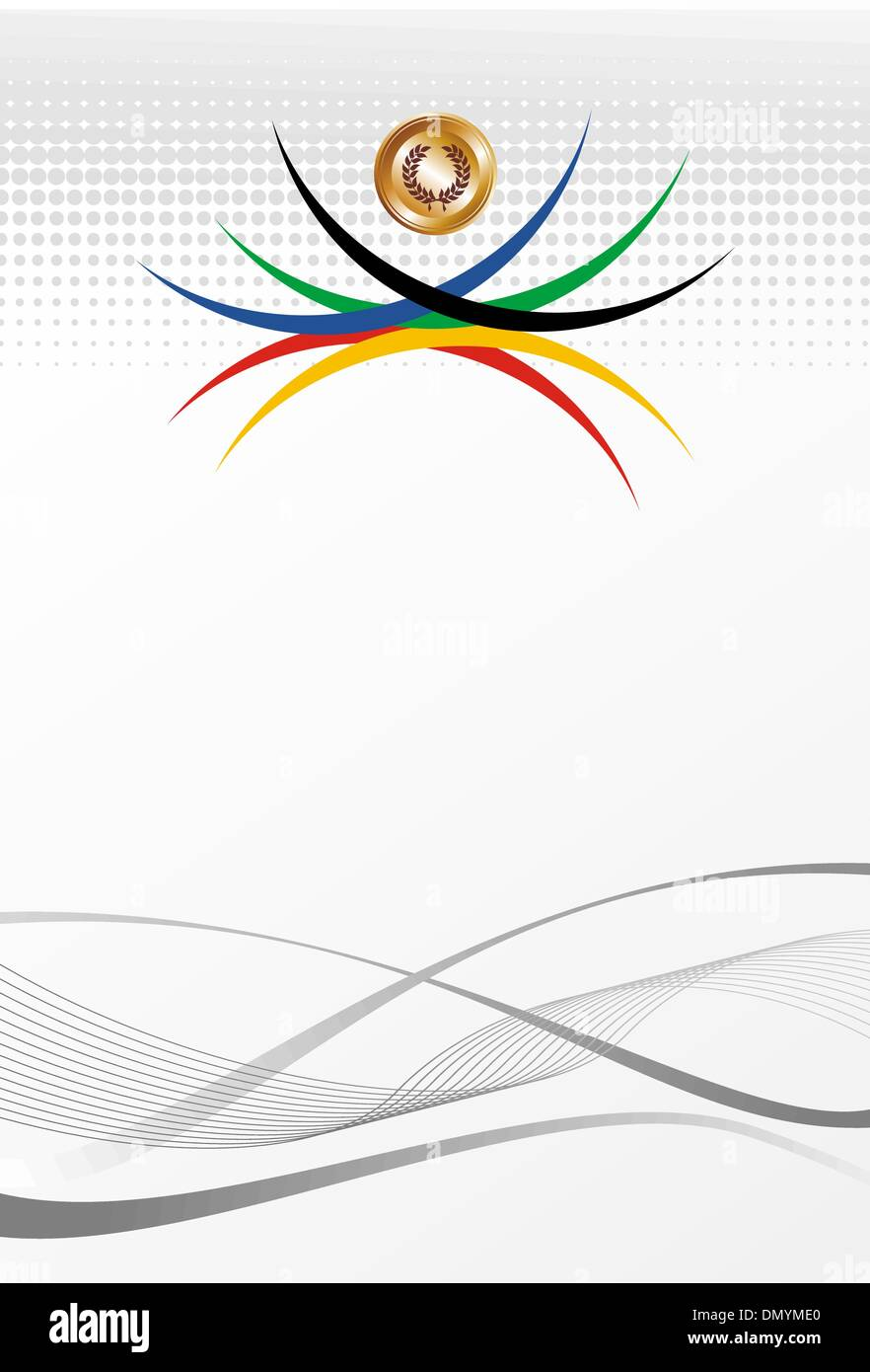Olympic games gold medal abstract background - Stock Vector