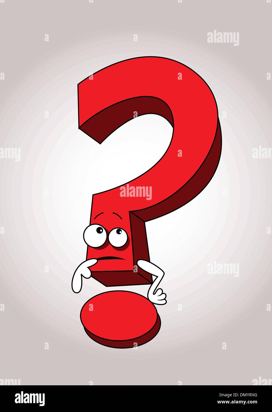 Question Mark Cartoon Stock Vector Images