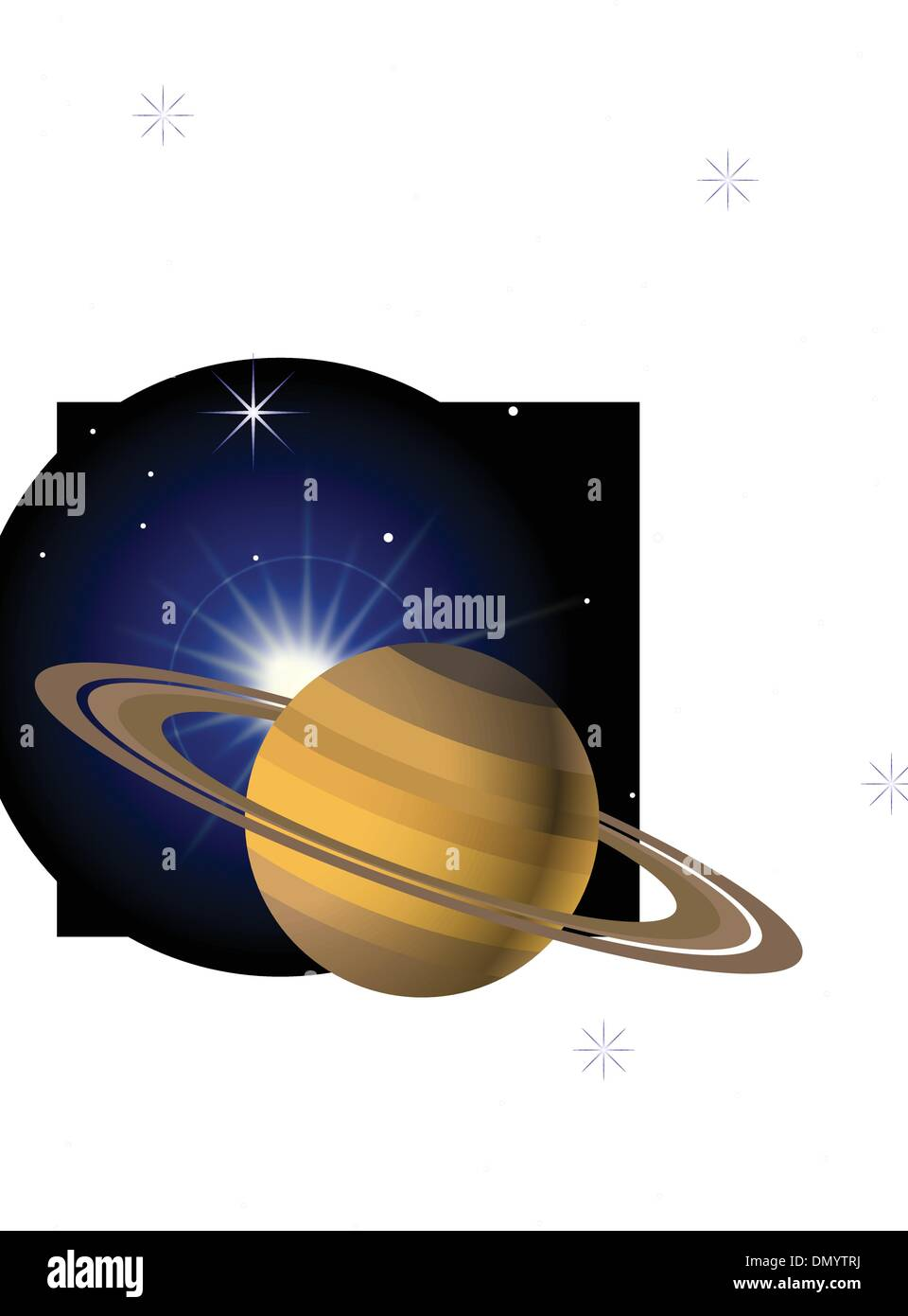 Planet background - Stock Image
