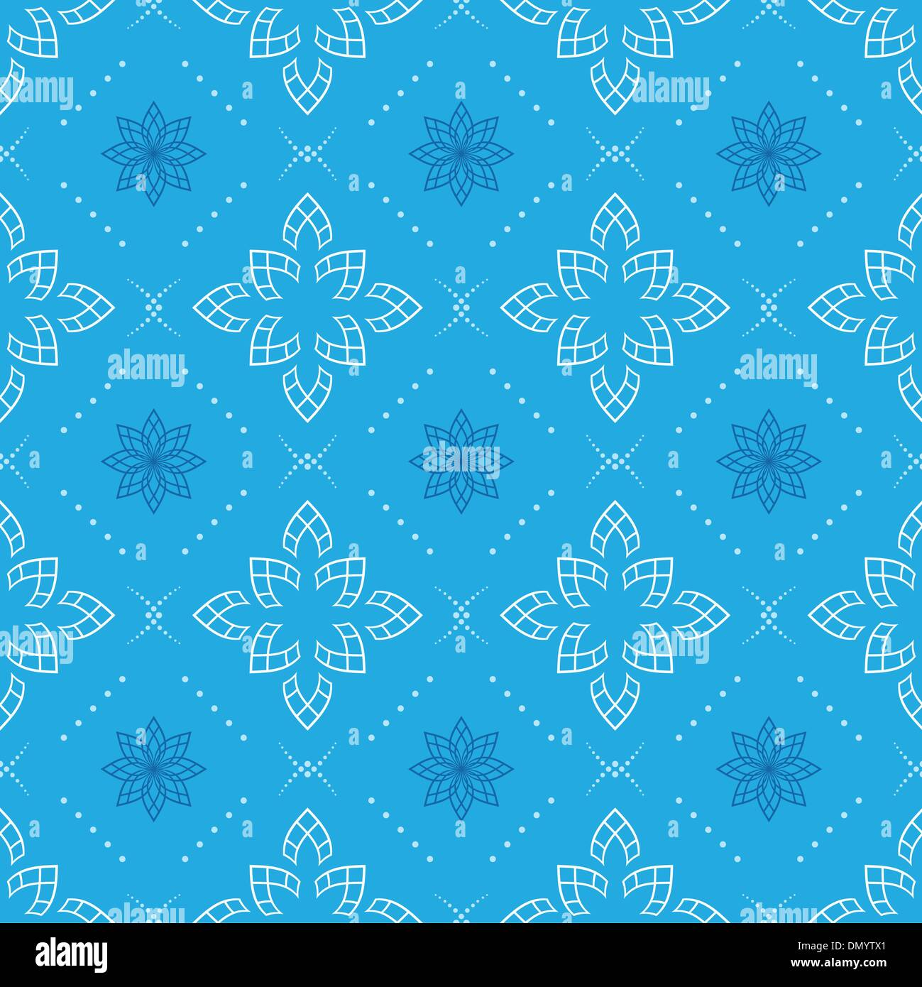 vector blue seamless geometrical pattern - Stock Image
