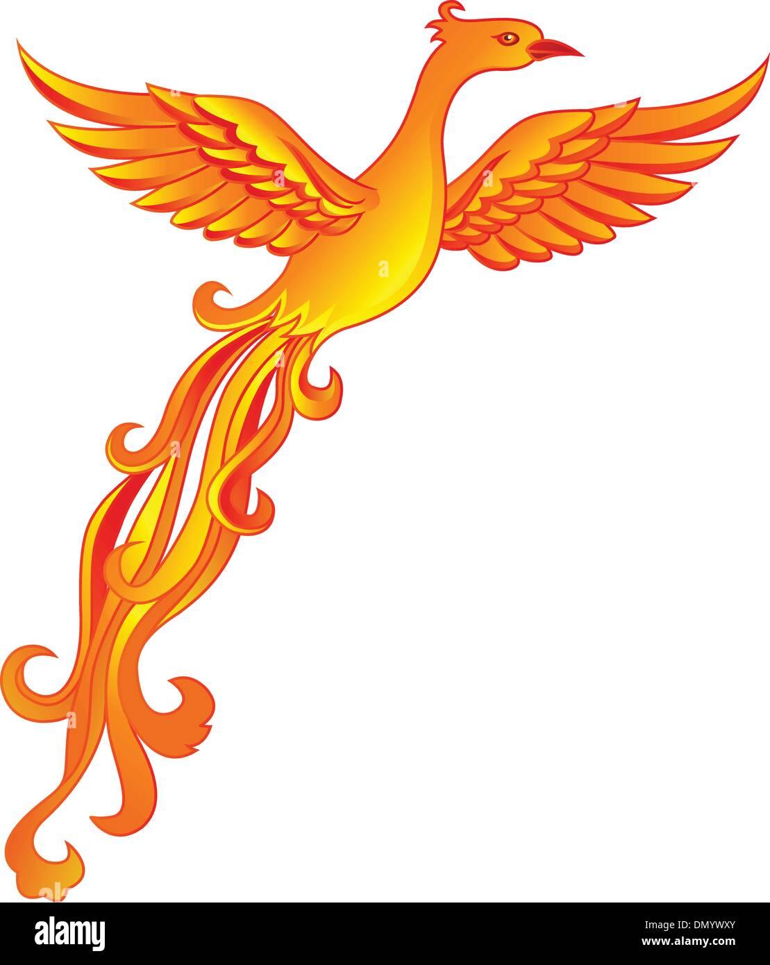 Phoenix bird Stock Vector