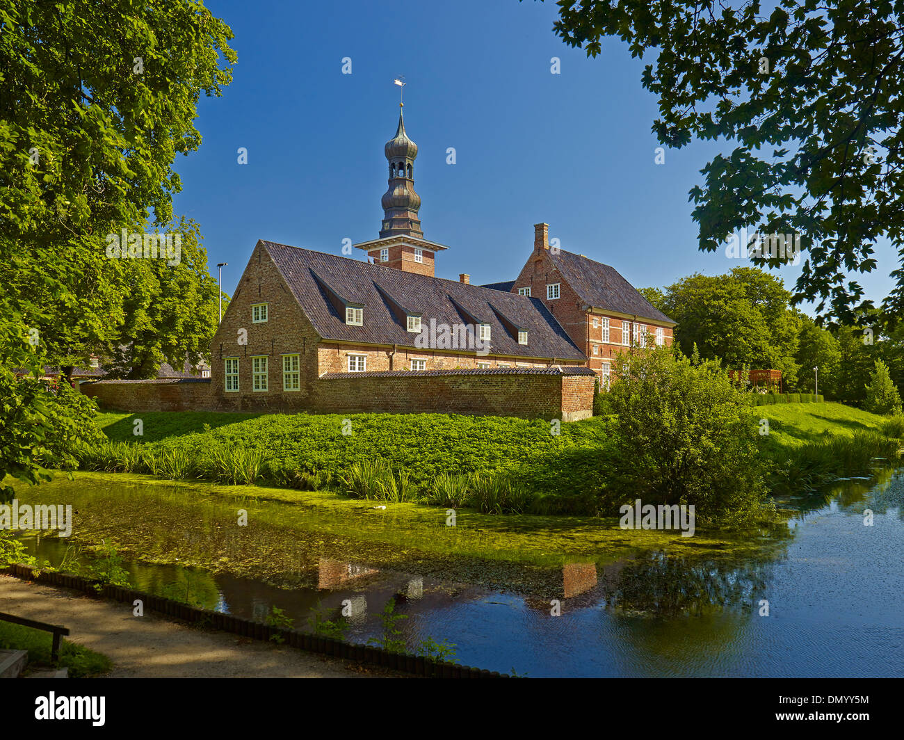 Husum Castle, district of North Friesland, Schleswig-Holstein, Germany - Stock Image