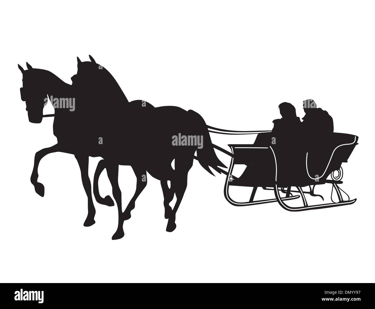 horse sleigh - Stock Image