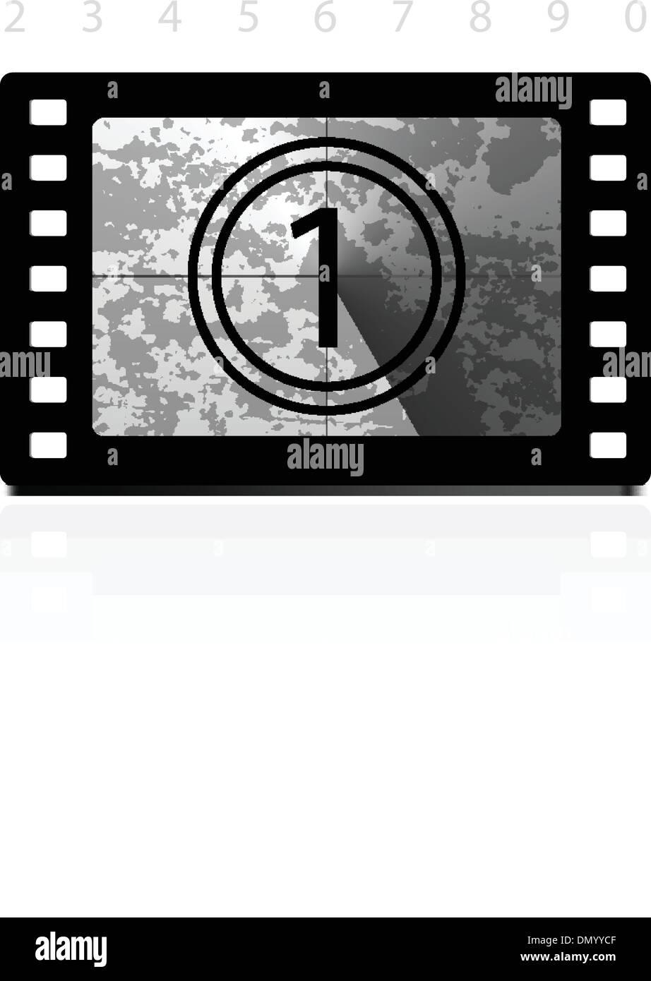 Film Countdown: Film Frame Countdown Stock Photos & Film Frame Countdown