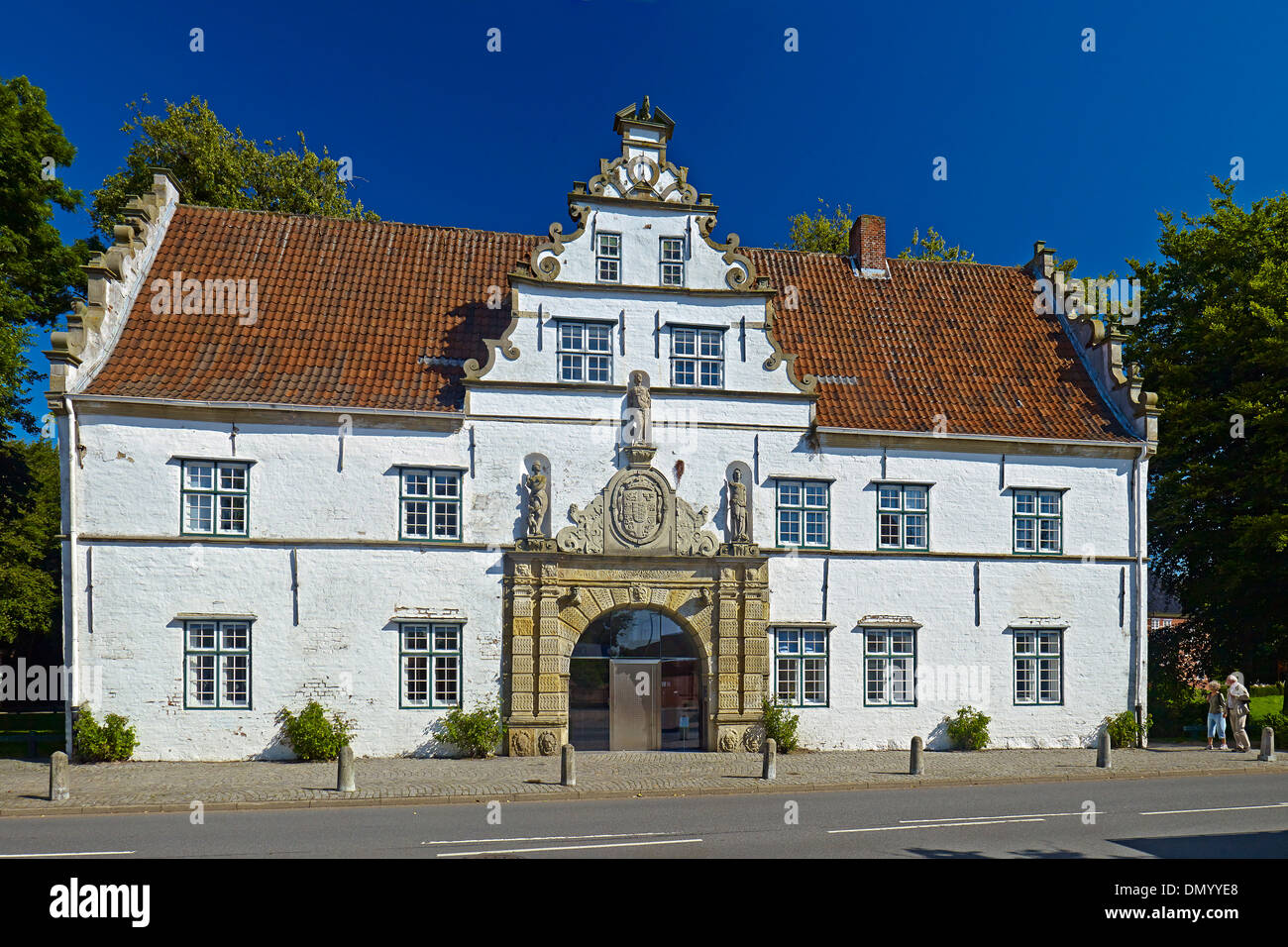 Gatehouse of Husum Castle, district of North Friesland, Schleswig-Holstein, Germany - Stock Image