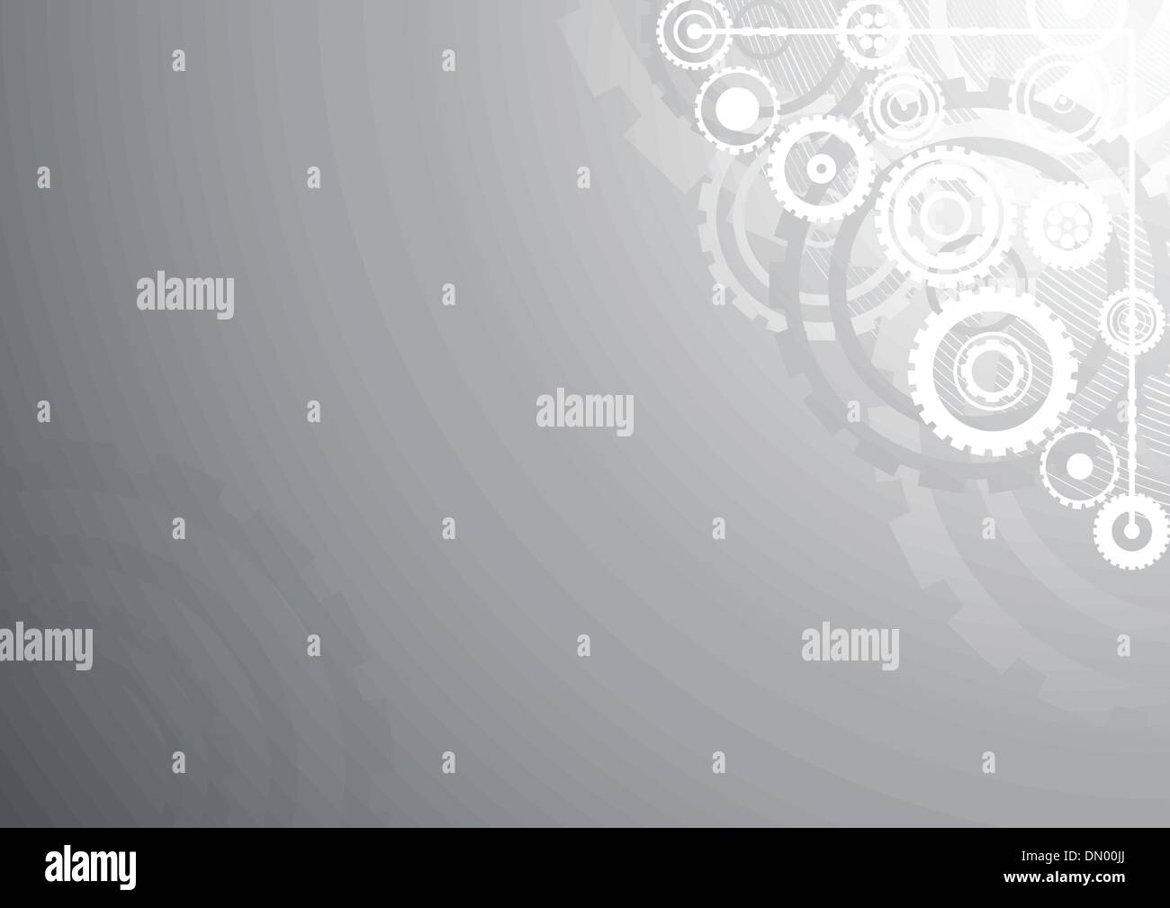 Silver technological background - Stock Image
