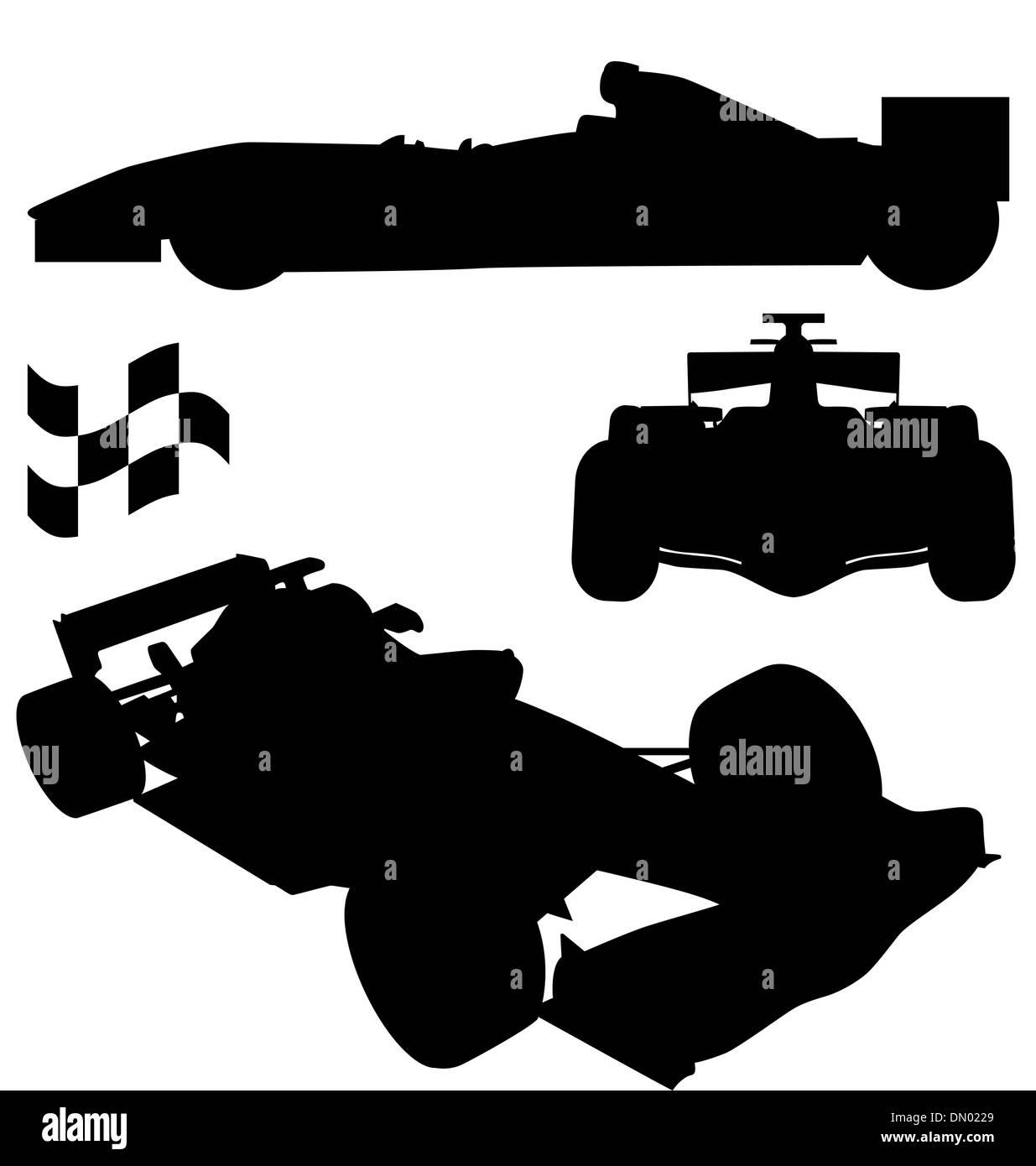 formula 1 set - Stock Image