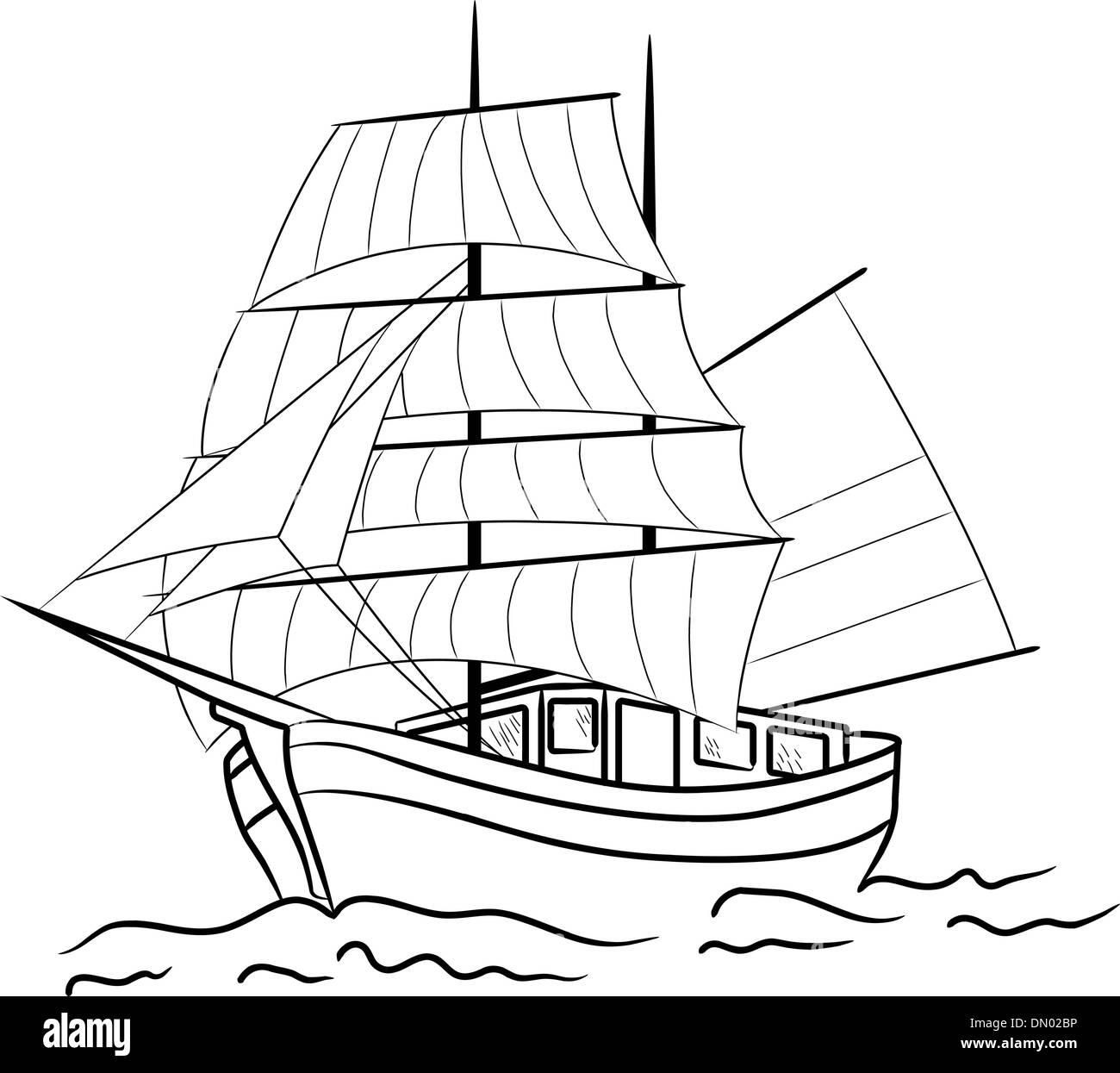 sketch cruise ship stock photos amp sketch cruise ship stock