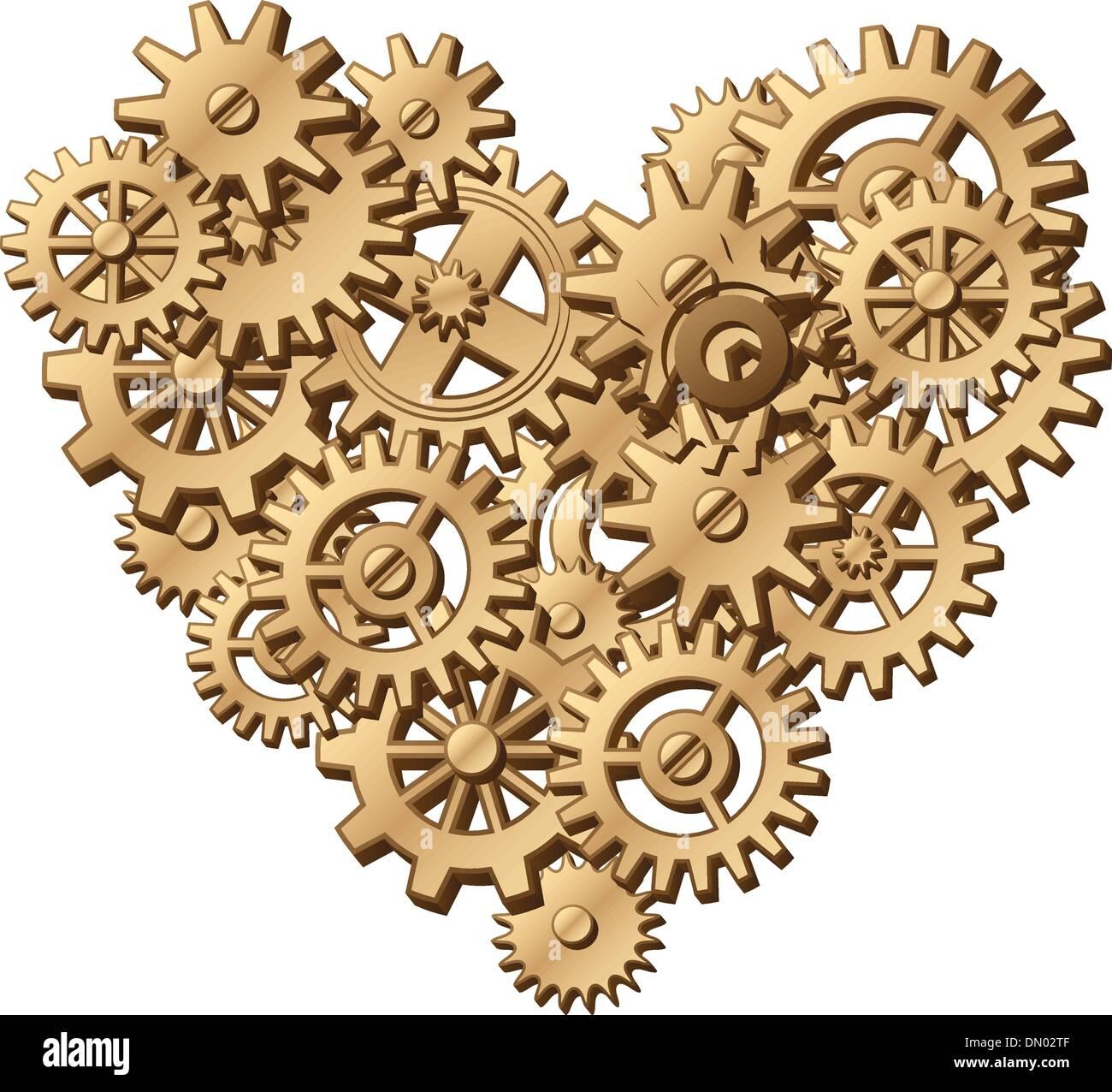 Mechanical Heart Symbol Stock Vector Art Illustration Vector