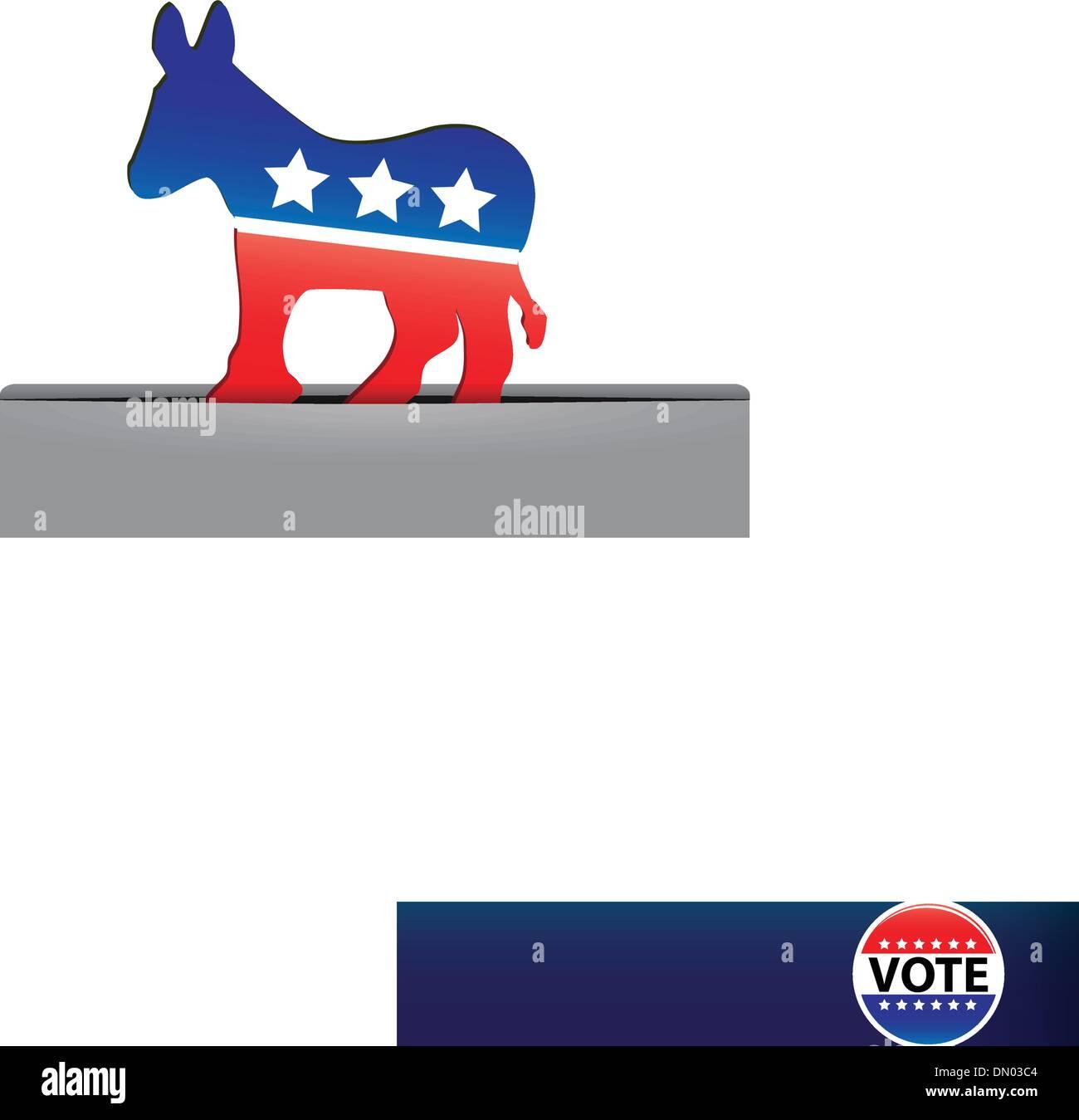 Symbol Democratic Party - Stock Image