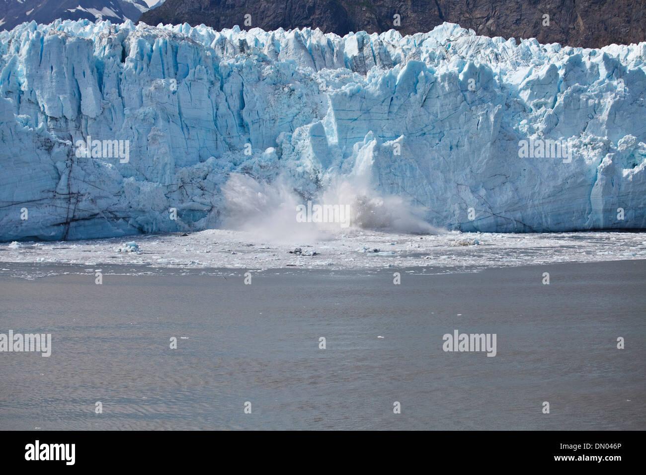 Glacier Bay, Alaska, from a cruise ship. - Stock Image