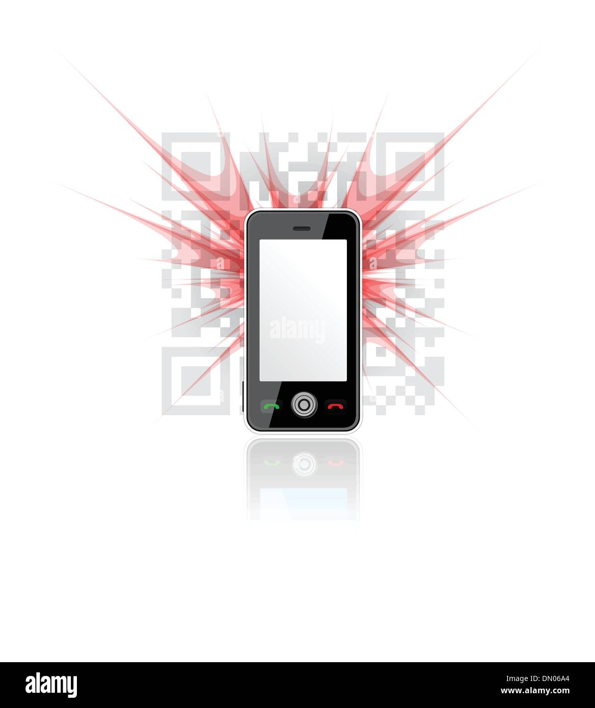 Phone scanned QR code - Stock Image