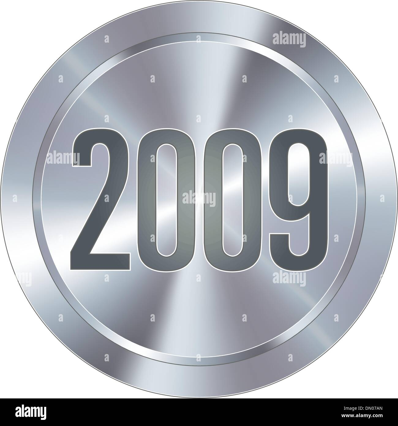 2009 industrial button - Stock Vector